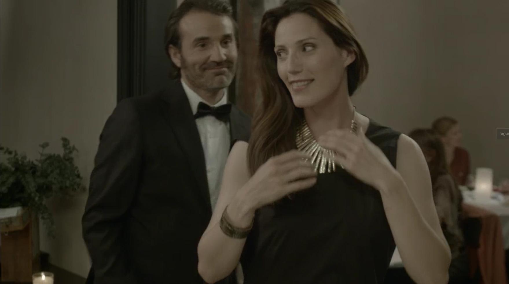 Nathalie Le Gosles en el spot de DEOX