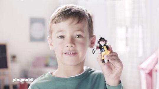 Anuncio de playmobil con niño JMA